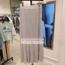 skirt Summer 2021 longuette High waist skirt commute 51% (inclusive) - 70% (inclusive) Zipper, stitching lattice Viscose 25-29 years old Type H Juicy Couture JC10250600 other One size fits all SILVER