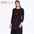 Dress Spring 2020 Navy / 55 S M L XL XXL Mid length dress Two piece set Long sleeves commute Crew neck Loose waist Decor Socket Pleated skirt routine 35-39 years old Type H MIK&LA ethnic style MAI1CL1461 30% and below nylon Viscose (viscose) 74.2% polyamide (nylon) 25.8%
