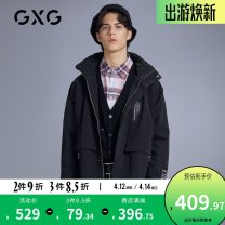 Windbreaker black GXG Youth fashion 165/S,170/M,175/L,180/XL,185/XXL,190/XXXL zipper have cash less than that is registered in the accounts standard Other leisure spring youth Hood (not detachable) GB108501A Polyester 100%