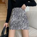 skirt Spring 2021 S,M,L Zebra long, zebra short Short skirt commute High waist A-line skirt Zebra pattern Type A 18-24 years old Korean version