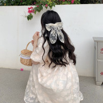Dress Summer 2021 Dress Average size longuette singleton  Short sleeve commute other High waist Solid color Princess Dress puff sleeve Others 18-24 years old Type A Korean version