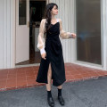 Dress Spring 2021 Long, short Average size longuette singleton  Long sleeves commute square neck High waist Solid color Socket A-line skirt puff sleeve Others 18-24 years old Type A Korean version fold