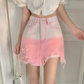 skirt Summer 2021 Short skirt High waist A-line skirt commute 30% and below other other 18-24 years old Type A 8030 other Korean version S,M,L Gradient pink, gradient blue