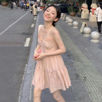 Dress Summer 2021 Lily dress S, M Short skirt singleton  Sleeveless commute V-neck Loose waist Solid color Socket Big swing other camisole 18-24 years old Type A Korean version 30% and below other other