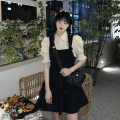 Dress Summer 2021 Fake two piece set S,M,L Short skirt Fake two pieces Short sleeve commute other High waist other A-line skirt Others 18-24 years old Type A Korean version A696