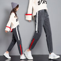 Casual pants S,M,L,XL,2XL,3XL Winter of 2018 trousers Haren pants High waist Versatile thickening Under 17 81% (inclusive) - 90% (inclusive) corduroy Three dimensional cutting cotton Asymmetry