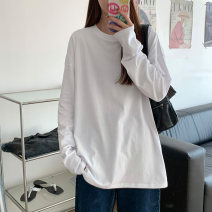 T-shirt White, black, white hole T-shirt, white short sleeve, black short sleeve S,M,L,XL,2XL,3XL Spring 2021 Long sleeves Crew neck easy Regular routine commute cotton 96% and above 18-24 years old Korean version classic Solid color Other / other