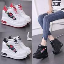 Boots 35 36 37 38 39 Black 88-5 red white 920 lace up black and white 920 lace up all black 920 lace up red white 922 Velcro black and white 922 Velcro all black 922 Velcro PU Other / other Super high heel (over 8cm) Internal elevation PU Short tube Round head cloth cloth Spring of 2018 polyurethane