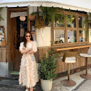 Dress Summer 2020 Champagne XS,S,M longuette singleton  elbow sleeve Crew neck Socket Big swing puff sleeve 25-29 years old Type A 81% (inclusive) - 90% (inclusive) other