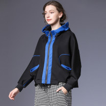 short coat Spring 2021 S,M,L black Long sleeves routine routine singleton  High waist type street Bat sleeve Hood zipper other 35-39 years old Within reach 51% (inclusive) - 70% (inclusive) other Viscose