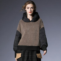 woolen coat Winter 2020 S,M,L Black, brown wool 30% and below routine Long sleeves commute other routine Hood Solid color High waist type literature M-6176 Within reach 35-39 years old Patch, fold, splice, thread, wave, button Solid color Plush
