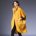 Windbreaker Spring 2021 S,M,L Yellow, red, black Long sleeves routine Medium length street Single breasted stand collar Bat sleeve Solid color High waist type Within reach F-5388A 35-39 years old Open line decoration, pleats, pockets, stitching, waves, buttons 96% and above cotton cotton