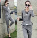 Casual pants Sky blue, light grey, dark grey S,M,L,XL,2XL Spring 2021 trousers Haren pants Natural waist commute routine 88A48# Korean version