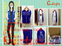 Cosplay men's wear suit goods in stock Manyi Jinyue animation cos clothing Over 14 years old Coat, pants, underwear, coat, Black Hoodie, blue coat, Black Hoodie, wig comic 50. M, s, XL, customized