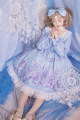 Dress Spring of 2019 010 light blue OP spot, 010 purple OP spot, 010 white OP spot S,M,L