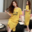 Nightdress d101,d102,d103,d104,d105,d106,d107,d108,d109,d110,d111,d112 M,L,XL,XXL,XXXL Sweet Short sleeve Leisure home longuette summer other youth Crew neck cotton printing More than 95% pure cotton d101 200g and below