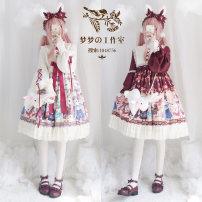 Dress Spring 2020 S,M,L Short skirt singleton  Long sleeves Sweet High waist Cartoon animation zipper Princess Dress bishop sleeve 30% and below Lolita