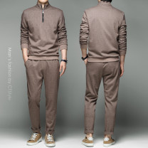 Leisure sports suit autumn M,L,XL,2XL,3XL,4XL,5XL khaki Long sleeves Other / other trousers youth Sweater wool