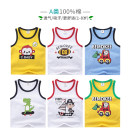 Vest sling Sleeveless summer Bemokee / bimucci male No model leisure time Cartoon animation Crew neck nothing Pure cotton (95% and above) Cotton 100% other 18 months, 2 years old, 3 years old, 4 years old, 5 years old, 6 years old, 7 years old, 8 years old