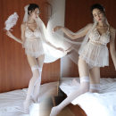Pajamas / housewear set female Lemon Story  Average size nylon Lace fabric