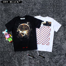 T-shirt Youth fashion White black thin S M L XL Off black Short sleeve Crew neck easy Other leisure summer Seven hundred and fifty-six Cotton 100% teenagers routine tide Woven cloth 2018 other printing cotton Creative interest Fashion brand More than 95%
