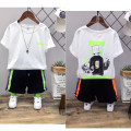 T-shirt White, black Other / other 110 (recommended height is about 110cm), 120 (recommended height is about 120cm), 130 (recommended height is about 130cm), 140 (recommended height is about 140cm), 150 (recommended height is about 150cm), 160 (recommended height is about 160cm) male summer Crew neck