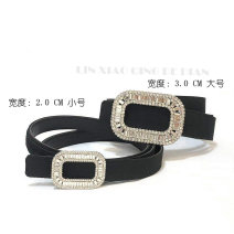 Belt / belt / chain silk Black Large 3.0, black small 2.0 belt Versatile Single loop Automatic buckle soft surface 2cm stainless steel 90cm,95cm,100cm,105cm