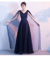 Dress / evening wear Wedding, adulthood, party, company annual meeting, performance, routine, appointment Korean version longuette middle-waisted Autumn 2020 Fall to the ground One shoulder Bandage Netting Sleeveless Embroidery machine embroidery