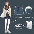 skirt Summer 2021 S,M,L,XL,2XL Blue in stock commute 18-24 years old 31% (inclusive) - 50% (inclusive) other Other / other other Korean version