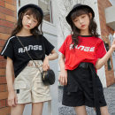 suit Interesting beans 120cm,130cm,140cm,150cm,160cm,165cm neutral summer Korean version Short sleeve + pants 2 pieces Thin money There are models in the real shooting Socket nothing Solid color cotton children Expression of love Class B 10 years old Chinese Mainland
