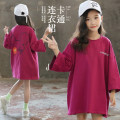 T-shirt Purplish red BBFAISEN 120cm,130cm,140cm,150cm,160cm,165cm female spring and autumn Long sleeves Crew neck Korean version There are models in the real shooting nothing cotton Solid color Cotton 95% polyurethane elastic fiber (spandex) 5% Class B Sweat absorption Chinese Mainland