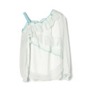 Lace / Chiffon Spring 2021 white XL,M,S,3XL,2XL,L,XS Long sleeves other Socket singleton  Crew neck 25-29 years old 9 Charms 9m