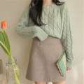 Fashion suit Winter 2020 S,M,L,XL Coffee skirt, grey skirt, green sweater [one size], blue sweater [one size] 18-25 years old 96% and above