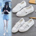 canvas shoe Other / other Low Gang White, black 35, 36, 37, 38, 39, 40, these shoes are standard size, the feet are wide and the feet are fat, it is suggested to increase one size to shoot Summer of 2019 Frenulum Korean version rubber Solid color Youth (18-40 years old) Shallow mouth K-8620