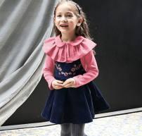 Dress Black strap skirt (no return for loss clearing), blue strap skirt (no return for loss clearing) female Other / other (size 7, height 90-100), (size 9, height 100-110), (size 11, height 110-120), (size 13, height 120-130), (size 15, height 130-138) Other 100% spring and autumn Korean version
