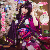 Cosplay women's wear suit Pre sale Over 14 years old Full range of clothing (headdress and two toe socks), full range of clothing (weapons + headdress), weapons, wigs Animation, games Dimensional dependence Japan a gentle wind Re: Die Kailu new year kimono Medium (163-168cm)