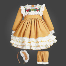 Dress Skirt + pants + socks, skirt + pants + headdress + socks, skirt + pants + headdress + rainbow skirt + socks, rainbow skirt (skirt support) is recommended female Other / other Polyester 100% spring and autumn princess Long sleeves Solid color flannelette Cake skirt Y6015 Class B Chinese Mainland