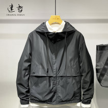 Jacket Other / other Youth fashion black M. L, XL, 2XL, 3XL, 7 days no reason to return goods, order free freight insurance, do not like package return, 16 o'clock before the same day delivery routine standard Other leisure spring 23808-1 Long sleeves Wear out Hood tide youth routine Zipper placket