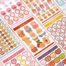 Stickers Wen Shu Cute baby series stickers Pink sweetheart, happy rabbit, cute bear, cute rabbit sauce, cute numbers, meow claws, soft bear, everyday, bear rainbow