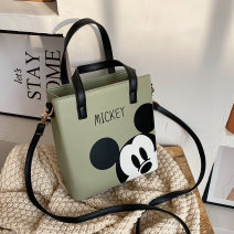 Bag The single shoulder bag PU Tote Bag with one glance she upsets a town brand new Japan and South Korea leisure time soft zipper no Cartoon animation Single root One shoulder cross carry youth Vertical square printing Soft handle polyester fiber inside pocket with a zipper soft surface