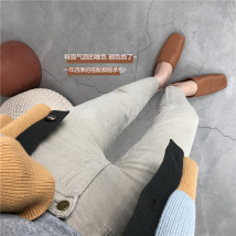 Jeans Winter 2020 S,M,L,XL Ninth pants High waist Straight pants thickening washing other 20d-1017357/8351/381/7366/