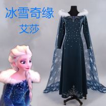 Cosplay women's wear skirt goods in stock Over 8 years old In stock (clothing) + Cape + (fur collar) , Pre sale (clothing) + Cape + The goods will be delivered around January 10 Animation, film and television L,M,S,XL,XXL,XXXL Butterfly House Europe and America Frozen Aisha clothing