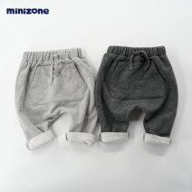 trousers minizone neutral 66cm 73cm 80cm 90cm 100cm spring and autumn trousers leisure time No model Big PP pants Leather belt middle-waisted cotton Don't open the crotch Cotton 55% polyester 45% Class A Spring of 2019 12 months 18 months 2 years old