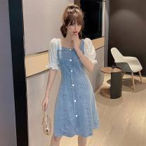 Cotton padded clothes blue S M L XL Summer 2020 Dorkia routine commute Self cultivation Korean version 0604-1 31% (inclusive) - 50% (inclusive) Exclusive payment of tmall Other 100%