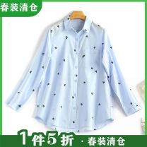 shirt Blue, white XS,S,M,L,XL Spring 2021 cotton 96% and above Long sleeves Regular other Other / other 30121-120-007-T
