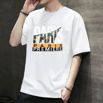 T-shirt other thin M (90-105 kg), l (105-120 kg), XL (120-135 kg), XXL (135-150 kg), 3XL (150-165 kg), 4XL (165-180 kg) Others Short sleeve other Self cultivation Other leisure summer ZZ routine 2019 Alphanumeric printing polyester fiber The thought of writing No iron treatment Non brand