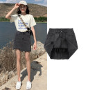 skirt Summer of 2019 XS S M L XL XXL XXXL Short skirt Versatile High waist Irregular Solid color Type A 18-24 years old Knocking head Asymmetric zipper Pure e-commerce (online only)