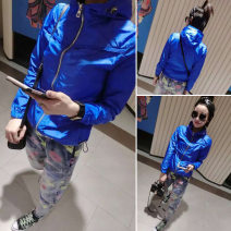 short coat Spring of 2019 M,L,XL,XXL,XXXL Long sleeves have cash less than that is registered in the accounts routine singleton  Self cultivation Versatile routine Hood zipper Solid color 25-29 years old