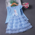 Dress female Other / other Cotton 95% other 5% spring and autumn princess Long sleeves Cartoon animation cotton Cake skirt 2, 3, 4, 5, 6, 7, 8, 9, 10, 11, 12 years old