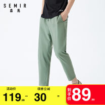 Casual pants Semir / SEMA Youth fashion 160/66A/XS 165/70A/S 170/74A/M 175/80A/L 180/84A/XL 185/88A/XXL 185/94B/XXXL routine Ninth pants Other leisure easy No bullet summer youth Basic public 2020 Medium low back Little feet Cotton 72.8% polyester 27.2% Overalls Pocket decoration Solid color other